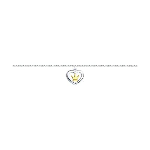 лучшая цена Серебряный браслет «Корона» SOKOLOV