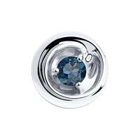 Подвеска из серебра с синим топазом