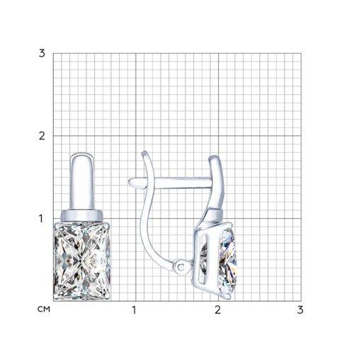 Серьги из серебра с фианитами (94022276) - фото №2