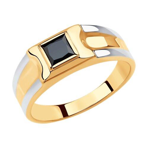 Кольцо из золота (018403) - фото