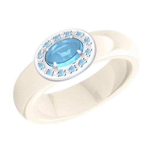 Кольцо из серебра с миксом камней (92011759) - фото
