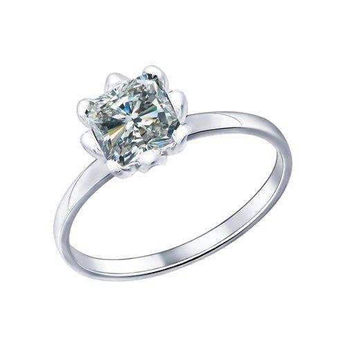 Помолвочное кольцо SOKOLOV из серебра с фианитом золотое помолвочное кольцо с фианитом sokolov
