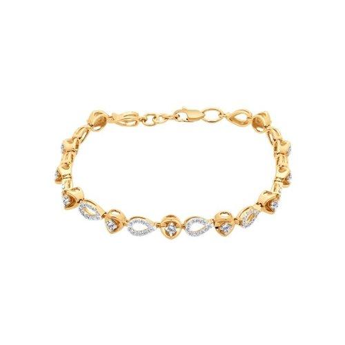 Браслет из золота с бриллиантами (1050065) - фото №2
