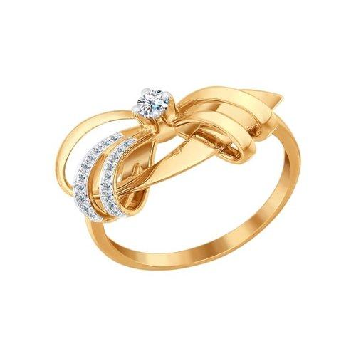 цена Кольцо с бриллиантами выполненное в форме бантика SOKOLOV онлайн в 2017 году