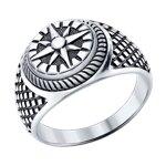 Кольцо из серебра «Компас»