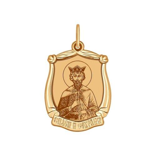 Иконка из золота с лазерной обработкой (103103) - фото