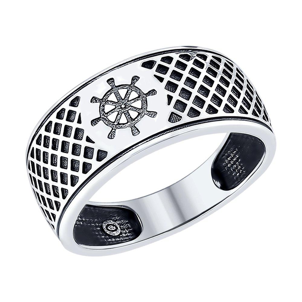Серебряное кольцо «Штурвал» SOKOLOV