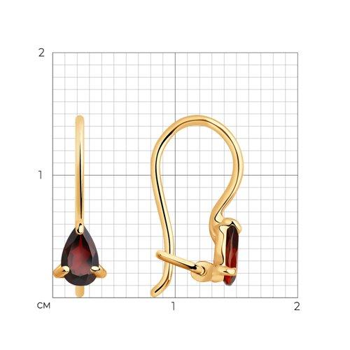 Серьги из золота с гранатами 727423 SOKOLOV фото 2