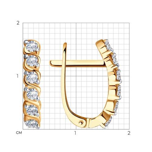 Серьги из золота с фианитами (026958) - фото №2