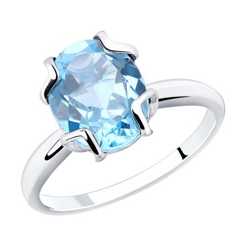Кольцо из серебра с топазом (92011778) - фото