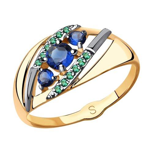 Кольцо из золота с фианитами (018053) - фото