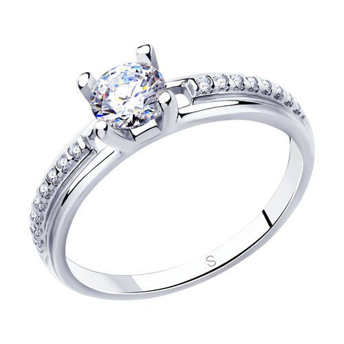 Кольцо из серебра со Swarovski Zirconia (89010120) - фото