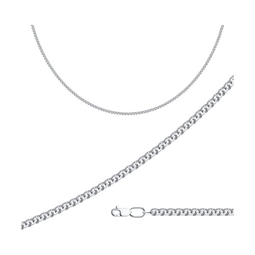 8061eab1d7a2 Цепь из серебра с алмазной гранью SOKOLOV – купить в официальном ...