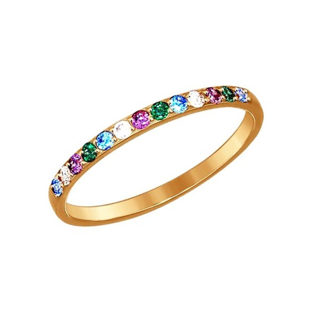 Кольцо SOKOLOV из золота с фианитами недорого