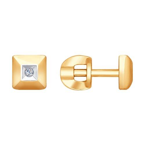 Золотые пусеты с бриллиантами цена 2017