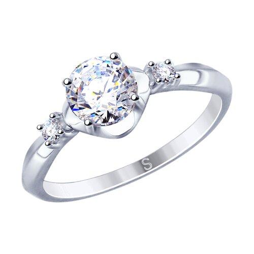 Кольцо из серебра со Swarovski Zirconia (89010116) - фото