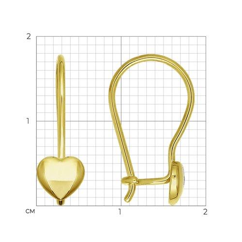 Серьги из желтого золота (020095-2) - фото №2