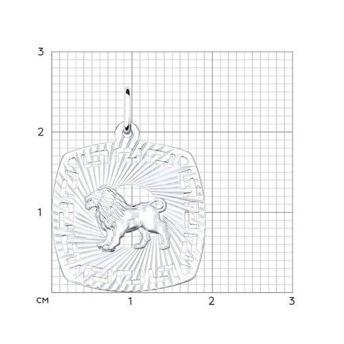 Подвеска «Знак зодиака Лев» из серебра  (94030862) - фото №2