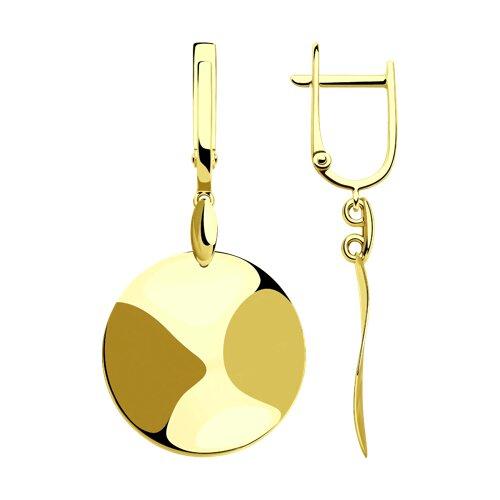 Серьги из желтого золота (028396-2) - фото