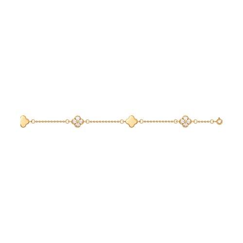 Браслет из золота со Swarovski Zirconia