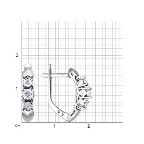 Серьги из белого золота с бриллиантами (1020988) - фото №2