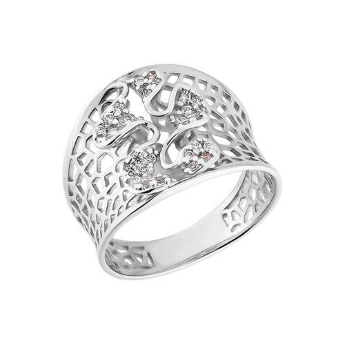 Широкое кольцо SOKOLOV из белого золота