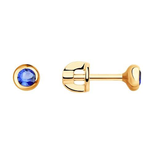 Серьги из золота с голубыми сапфирами