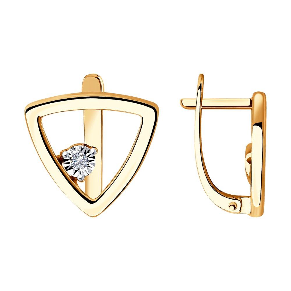 Купить со скидкой Серьги SOKOLOV из комбинированного золота с бриллиантами