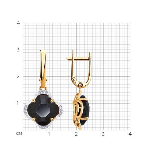 Серьги из золота с бриллиантами и керамическими вставками 6025138 SOKOLOV фото 2
