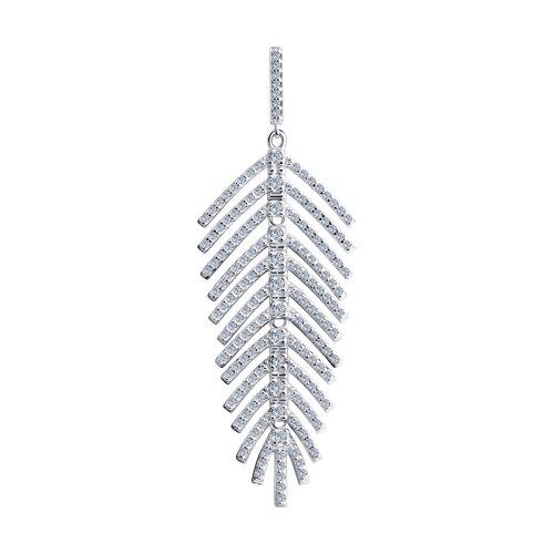 Подвеска из серебра с фианитами (94032523) - фото