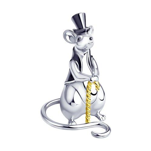 Сувенир «Крыса» из серебра (2305080017) - фото
