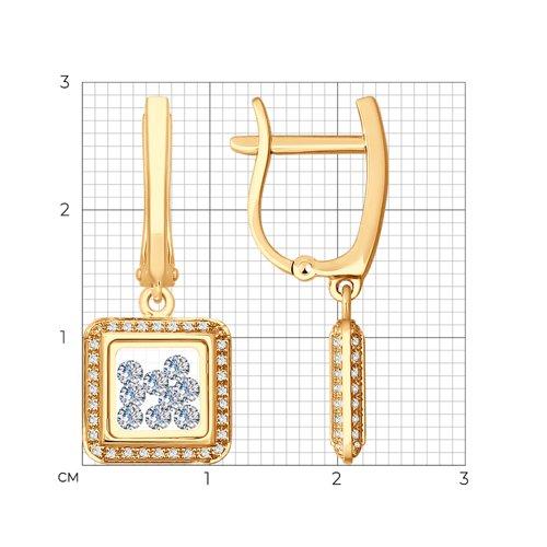 Серьги из золота (027729) - фото №2