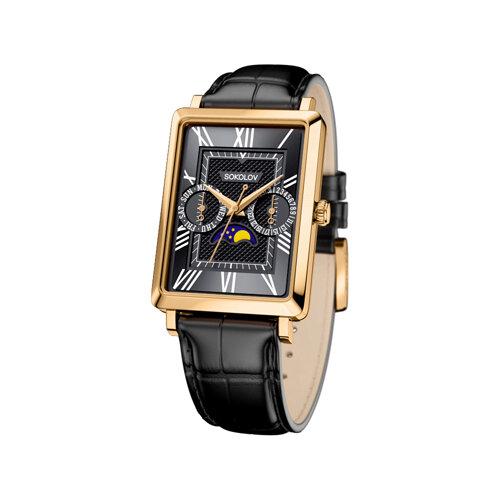 Мужские золотые часы (233.02.00.000.02.01.3) - фото