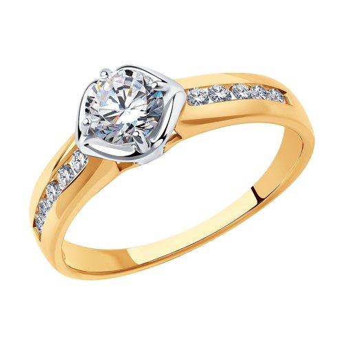 Кольцо из золота с фианитами Сваровски