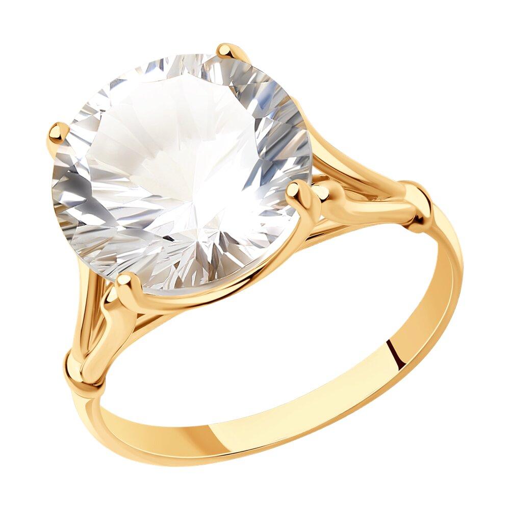 Перстень с горным хрусталём SOKOLOV фото