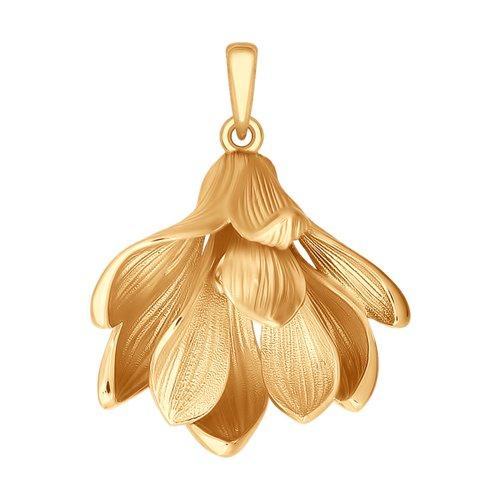 Подвеска из золота с фианитом