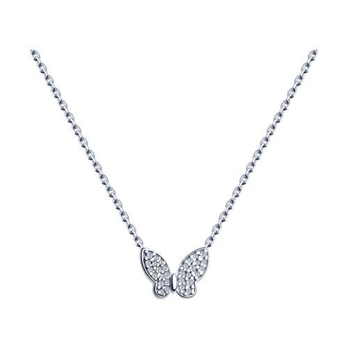 Колье из серебра с фианитами (94070245) - фото
