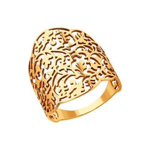 Золотое кольцо с алмазной обработкой SOKOLOV золотое кольцо ювелирное изделие 01k624899