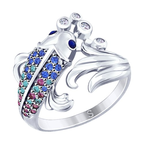Серебряное кольцо «Рыбка»