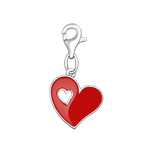 Подвеска на браслет в форме сердца SOKOLOV