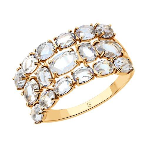 Кольцо из золота с горным хрусталем