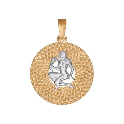 Фото - Подвеска знак зодиака SOKOLOV из комбинированного золота с алмазной гранью «Дева» подвеска знак зодиака рак sokolov из комбинированного золота