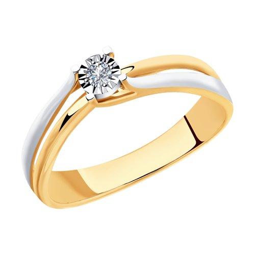 Кольцо из комбинированного золота с бриллиантом 1011830 SOKOLOV фото