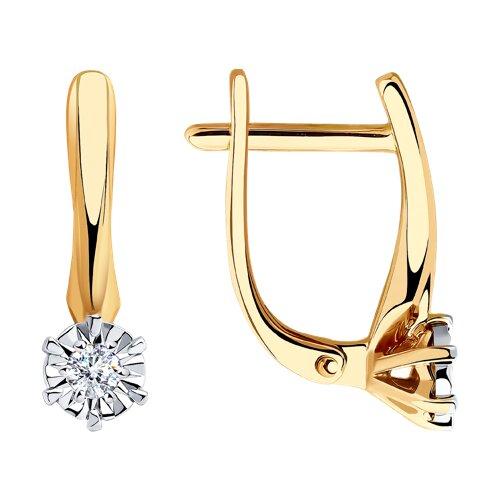 Серьги из золота с бриллиантами (1021332) - фото