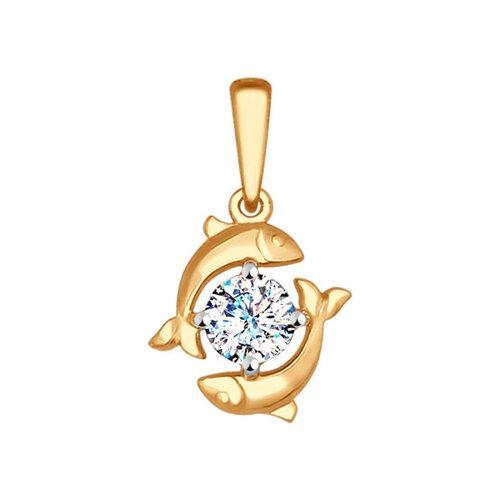 подвеска знак зодиака рак sokolov из красного золота Подвеска «Знак зодиака Рыбы» SOKOLOV из красного золота