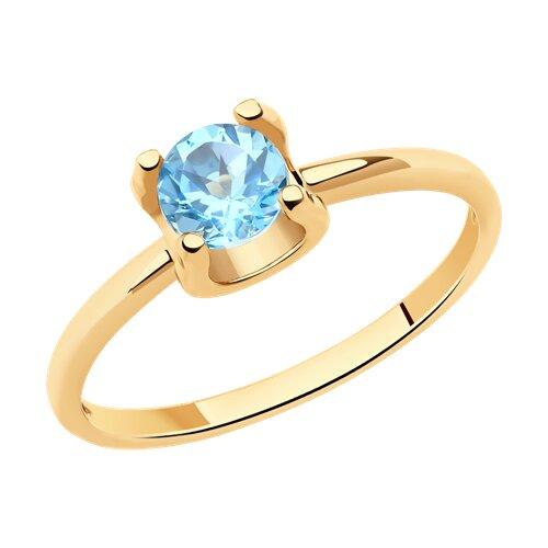 Кольцо из красного золота с топазом 716135 sokolov фото