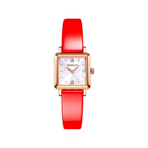 Женские золотые часы (231.01.00.000.05.06.2) - фото №2