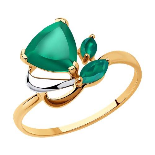Кольцо из золота с агатами (37714625) - фото