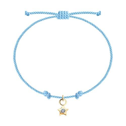 цена Браслет SOKOLOV из золота с бриллиантом онлайн в 2017 году