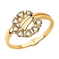 Кольцо из золота с жёлтыми Swarovski Zirconia